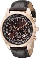 GUESS GUESS? Men's U0500G3 Leather Quartz Watch