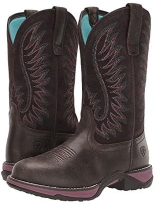 Ariat Anthem Round Toe (Acorn/Fudge) Cowboy Boots