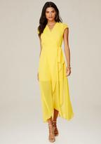 Bebe Wrap Maxi Dress