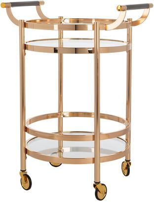 Safavieh Furniture Sienna 2-Tier Round Bar Cart