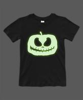 Urban Smalls Black Glow Jack-O'-Lantern Crewneck Tee - Toddler & Boys