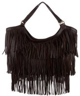Kendall Conrad Fringed Leather Tote