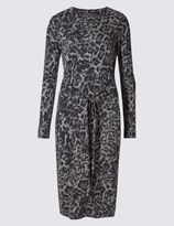 Marks and Spencer Animal Print Tie Front Shift Dress