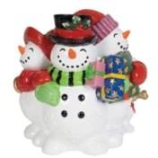 Fitz & Floyd Holly Jolly Snowman Musical Figurine