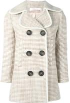See by Chloe tweed peacoat - women - Cotton/Acrylic/Polyamide/Wool - 38