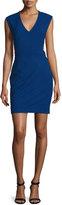 Nicole Miller Caleb Techy Crepe Cutout Dress, Blue