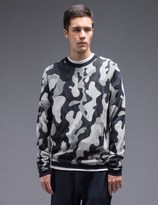 YMC Camo Crewneck Knit Sweater