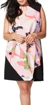 Rachel Roy Plus Size Women's Colorblock Floral Shift Dress