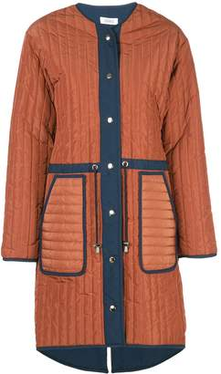 Nomia loose-fit quilted coat