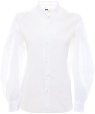 Noir Kei Ninomiya Cotton Poplin Shirt W/puff Sleeves