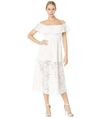 Flynn Skye Brenna Midi Eyelet Dress