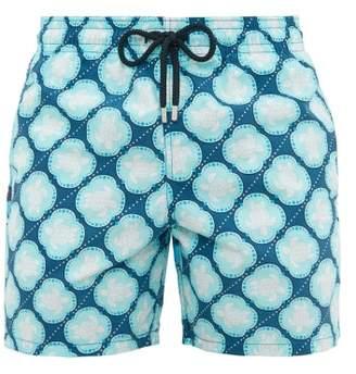Vilebrequin Moorea Turtle Print Swim Shorts - Mens - Blue White