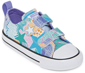 Converse Mosaic Tile Print Toddler Girls Hook and Loop Sneakers