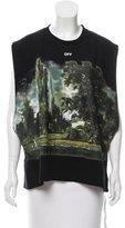 Off-White Painted Landscape Oversize Sweatshirt