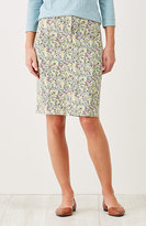 J. Jill Live-In Chino Print Skirt