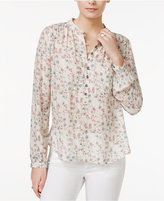 William Rast Anastasia Floral-Print Blouse