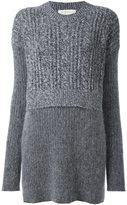 Stella McCartney oversize contrast draped jumper