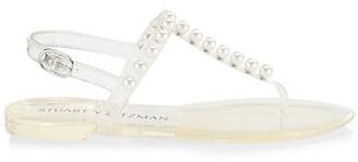 Stuart Weitzman Goldie Jelly Embellished Sandals