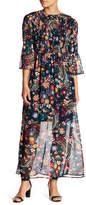 ECI Long Sleeve Smocked Maxi Dress