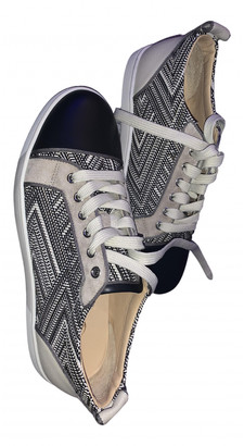 Christian Louboutin Beige Leather Trainers