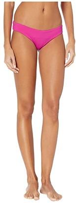 Maaji Sublime Reversible Signature Coverage Bikini Bottoms (Hibiscus Pink) Women's Swimwear