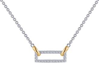 Lafonn Simulated Diamond Open Rectangle Pendant Necklace