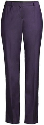 BOSS Titana Regular-Fit Natural Stretch Virgin Wool Straight Leg Suiting Trousers