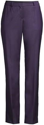 HUGO BOSS Titana Regular-Fit Natural Stretch Virgin Wool Straight Leg Suiting Trousers