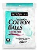 Harmon Face Values 100-Count Triple Size Cotton Balls(1 Pack)