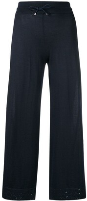 Barrie Knitted Wide-Leg Trousers