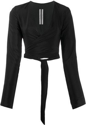 Rick Owens Cropped Wrap Top