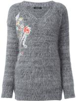 Roberto Collina floral embroidery jumper