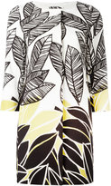 Herno leaf print coat - women - Cotton/Polyester/Spandex/Elastane/Acetate - 42