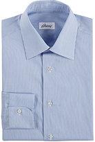 Brioni Men's Micro-Striped Poplin Shirt