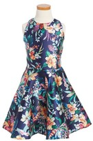 Un Deux Trois Girl's Floral Party Dress