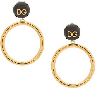 Dolce & Gabbana logo plaque hoop earrings