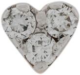 Kismet By Milka 14kt rose gold Mini Heart diamond stud