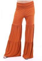 Honeystore Women's Soft High Waisted Wide Leg Long Plus Palazzo Pants L