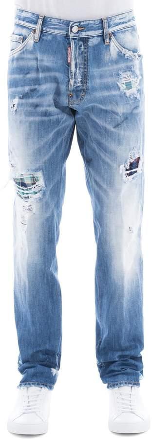 DSQUARED2 Blue Cotton Cool Guy Jeans