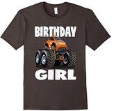 Women's Birthday Girl Monster Truck Vintage Orange Bug Bday T-Shirt Large