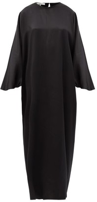 LA COLLECTION Epione Silk-charmeuse Maxi Dress - Black