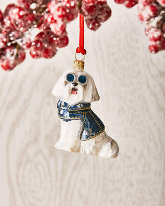 Joy To The World Collectibles Maltese in Denim Jacket Ornament