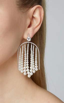 Lauren X Khoo 18K White Gold, Pearl and Diamond Earrings