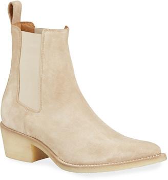 Amiri Men's Suede Point-Toe Chelsea Boots