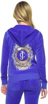Juicy Couture Outlet - LOGO VELOUR BANNER CREST ORIGINAL JACKET