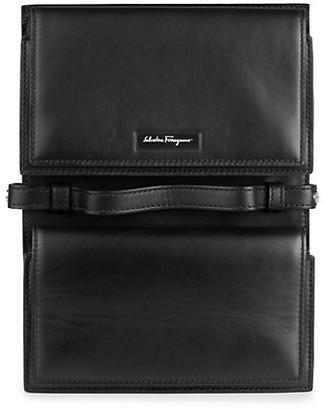 Salvatore Ferragamo Dual Compartment Leather Document Pouch
