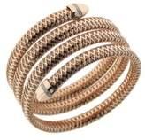 Roberto Coin Primavera Diamond, 18K Rose and White Gold Wrap Bracelet