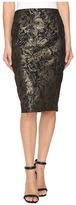 Calvin Klein Metallic Rose Pencil Skirt
