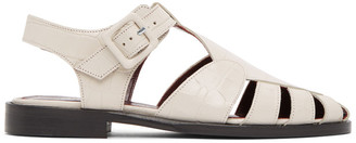 STAUD Beige Croc Brady Sandals