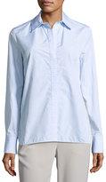 Thakoon Lace-Insert Shirt, Blue